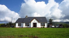 View of a House in Ireland - stock footage