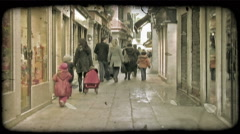 Shop Walking. Vintage stylized video clip. - stock footage