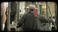 Gondolier. Vintage stylized video clip. Stock Footage