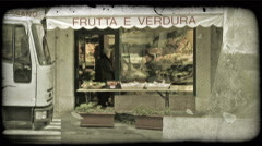 Italian Shop. Vintage stylized video clip. - stock footage