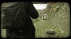Walking Man 10. Vintage stylized video clip. - stock footage