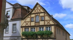 Half-timbered Houses in Rothenburg ob der Tauber, Germany - stock footage