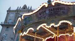 French carousel Stock Footage