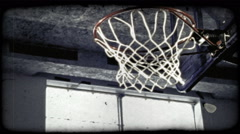 Slam Dunk 16. Vintage stylized video clip. Stock Footage