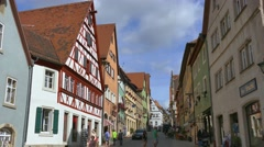 Half-timbered Houses in Rothenburg ob der Tauber, Germany Stock Footage