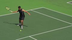 Tennis Player Returns Stock Footage