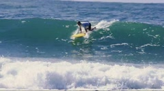Longboard surfer Crescent Head, Australia. Stock Footage