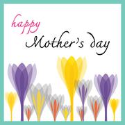 Happy mothers day with tulip Stock Illustration