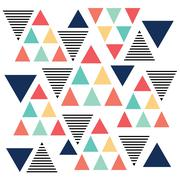 Triangle pattern color variation - stock illustration
