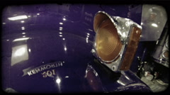 Blinking truck light. Vintage stylized video clip. Stock Footage