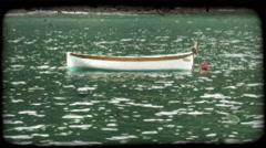 Italian Boat. Vintage stylized video clip. Stock Footage