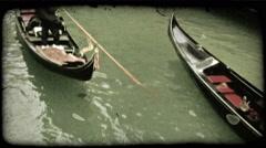 Gondola 1. Vintage stylized video clip. Stock Footage