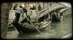 Gondola 8. Vintage stylized video clip. Stock Footage