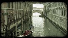 Gondola 11. Vintage stylized video clip. Stock Footage