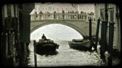 Gondola 12. Vintage stylized video clip. Stock Footage