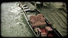 Gondola 19. Vintage stylized video clip. Stock Footage
