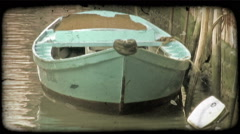 Row boat 1. Vintage stylized video clip. Stock Footage