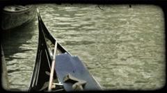 Gondola 22. Vintage stylized video clip. Stock Footage
