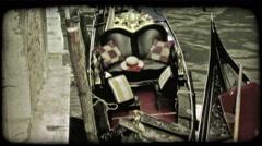 Gondola 23. Vintage stylized video clip. Stock Footage