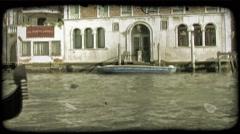 Gondola 24. Vintage stylized video clip. Stock Footage