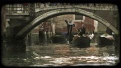 Venice Canal 2. Vintage stylized video clip. Stock Footage