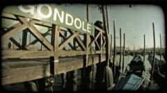 Gondola 26. Vintage stylized video clip. Stock Footage