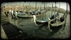 Gondola 27. Vintage stylized video clip. Stock Footage