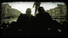 Gondola 32. Vintage stylized video clip. Stock Footage