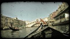 Gondola 33. Vintage stylized video clip. Stock Footage