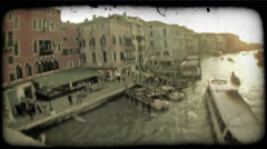 Gondola 37. Vintage stylized video clip. Stock Footage