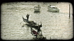 Venice Canal 5. Vintage stylized video clip. Stock Footage