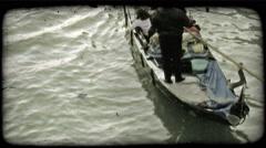 Gondola 41. Vintage stylized video clip. Stock Footage