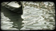 Gondola 42. Vintage stylized video clip. Stock Footage