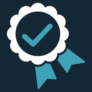 Approved icon from Competition & Success Bicolor Icon Set - stock illustration