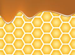 Abstract texture of honeycomb - stock illustration