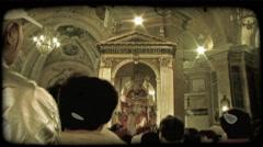 Italian Worship 8. Vintage stylized video clip. Stock Footage