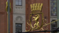 Coat of Arms symbol in Berlin Stock Footage