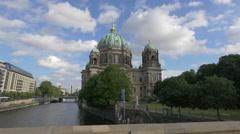 View of Berlin Cathedral seen from Friedrich Bridge, Berlin Stock Footage