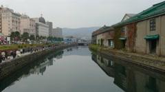Otaru canal,Japan Stock Footage