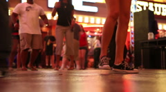 People Line Dancing - stock footage