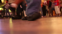 Twisting and Turning on the Dance Floor - stock footage