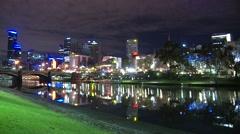 Melbourne & Yarra River Stock Footage