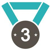 Third medal icon from Competition & Success Bicolor Icon Set - stock illustration