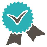 Validation seal icon from Competition & Success Bicolor Icon Set Stock Illustration