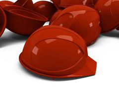 Pile of helmets Stock Illustration