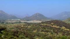 Aravalli Hills in Udaipur, Rajasthan, India Stock Footage