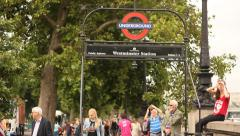 Westminster underground station exit, London Stock Footage