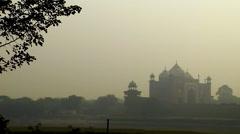 Taj Mahal Agra Stock Footage