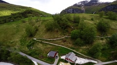 Flaam ascending and 270 degrees turn - NORWAY - Stock Footage
