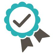 Stock Illustration of Approved icon from Competition & Success Bicolor Icon Set